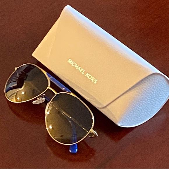Michael Kors Aviator Sunglasses MK50001 Gold Frame